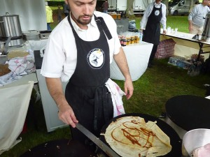 Making My Butter and Caramel Crêpe at the Ty Lichous Food Stand
