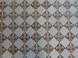 Fleur-de-lys Tile on the Floor of the Vestibule