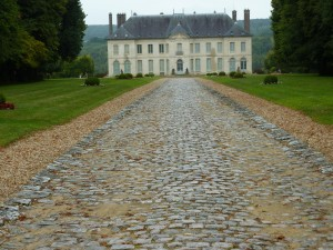 View of Château from the Gate at the Top of the Hill