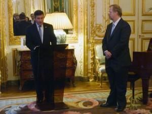 Ambassador Rivkin and Nathan Myhrvold