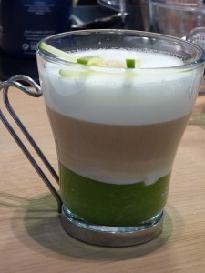 Cappuccino Prepared with Purée of Green Apple