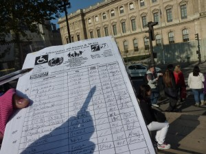 A Close-up Photo of the Petition