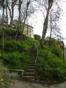 L'escalier à Auvers