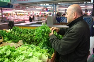 Philippe Rochette Buys Parsley at the Aromatic Herb Stand