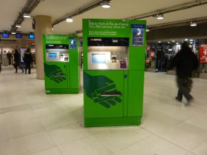 Ticket Machine for Ile-de-France Trains