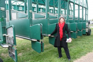 Gina Shows Us the Starting Gate