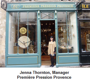 Jenna Thornton, Manager of Première Pression Provence