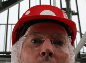 Fearless Blogger Prepares to Enter Dangerous Construction Site