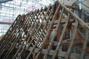 Rafters of Old Building