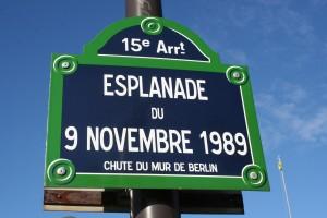 Esplanade du 9 Novembre 1989