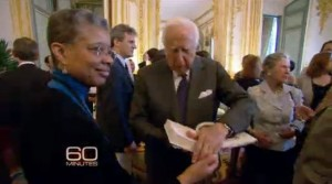 Monique Y. Wells and David McCullough at U.S. Ambassador's Residence in Paris