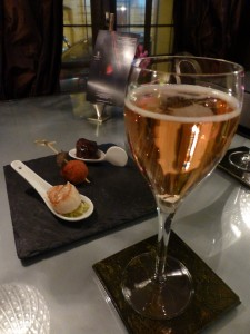 Gosset Grand Rosé with Plate of Warm Tapas