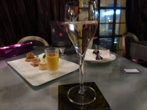 Gosset Grande Reserve with Plate of Cold Tapas