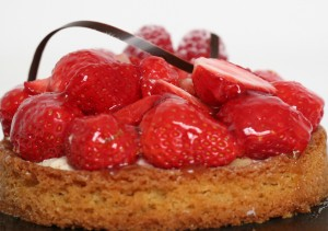 Close-up of Tarte aux Fraises