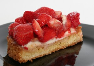 Cross Section of a Strawberry Tart