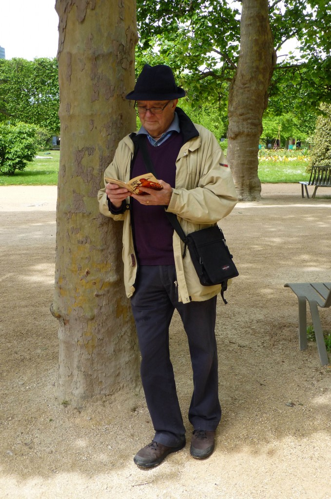 Man Reading in Park