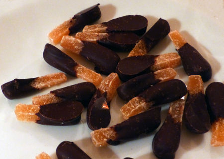 Chocolate-dipped Candied Ginger