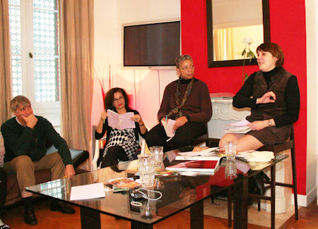 From left to Right:  Eric Anthonissen - Adrian Leeds- Monique Y. Wells - Marie-Hélène Gantois