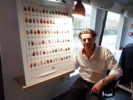 Thierry Givone next to Aroma Chart