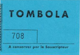 Tombola Ticket 708