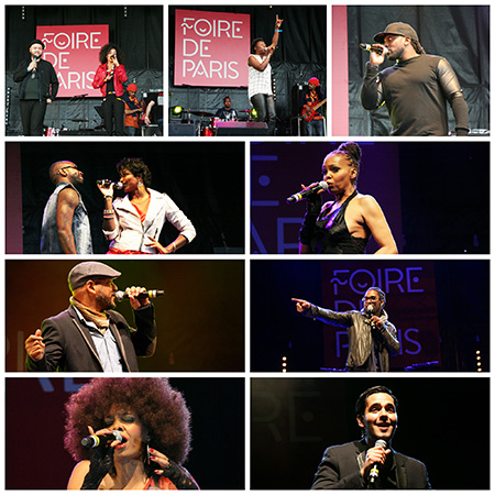 Collage of Caribbean Singers