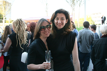 Daisy de Plume of THATLou and Kasia Dietz of Kasia Dietz Handbags