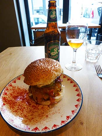 Burger and Beer at Little Cantine