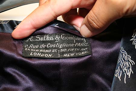 Label of a House Robe