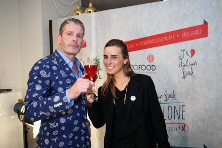 Stephane Durot poses with Nicoletta Bernazzani, the event coordinator Photograph by www.DiscoverParis.net