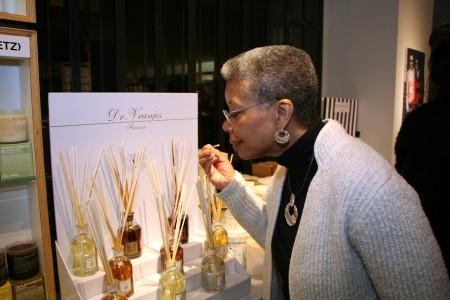 Monique Sniffing Dr. Vranjes Perfume