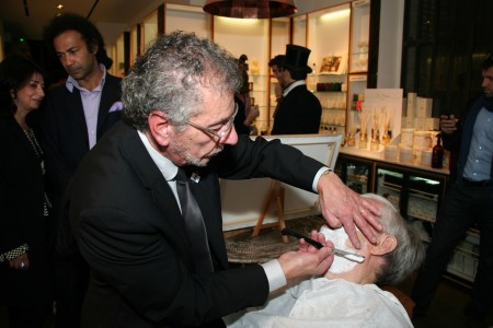 Alain Begins the Shave