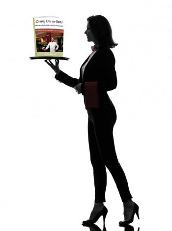 Waitress Admiring Our E-book