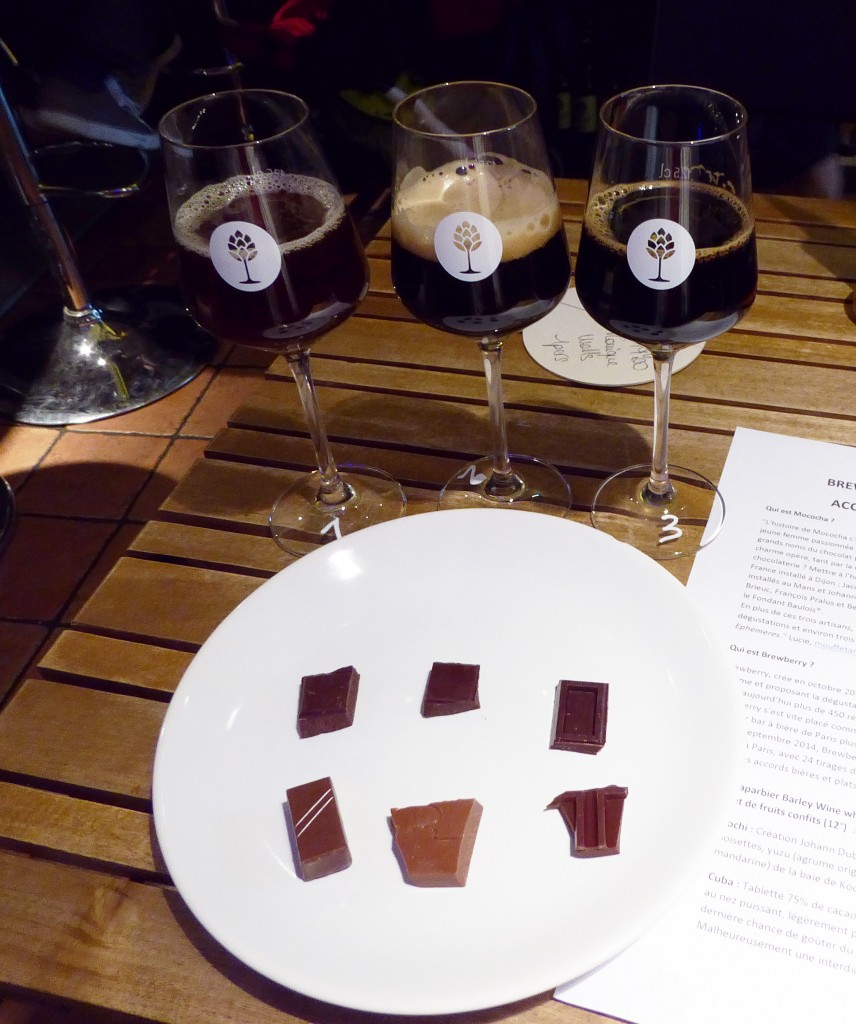 Three Beers Paired with Six Chocolates