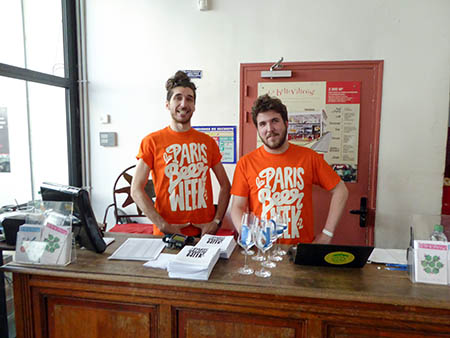 André and Martin Collecting Tickets at the Door