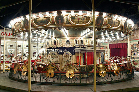 Velocipede Carrousel Photograph courtesy of Pavillons de Bercy