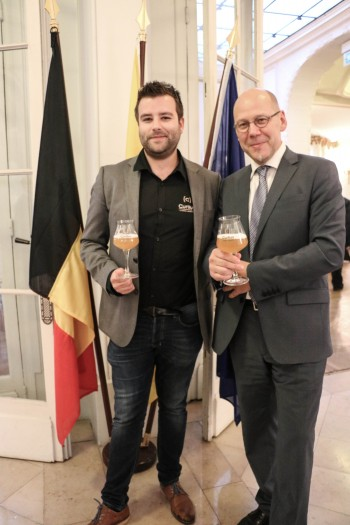 François Dethier, Associate Director of Curtius Brewery - left - Michel Cloes,  - right
