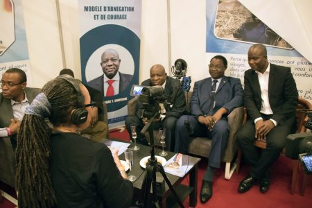 Mica Manquat Interviews Dignitaries at the African Fair
