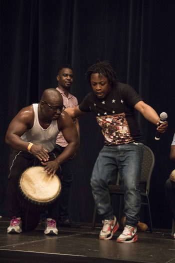 Woyo drumming and dancing