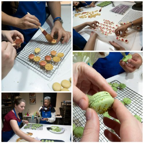 Assembling the macarons_collage