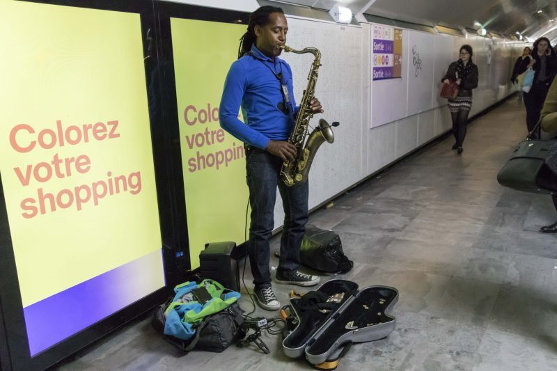 Jazzman in the Metro
