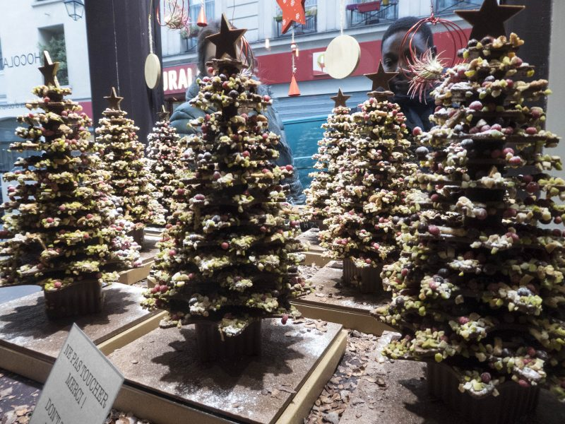 Admiring Chocolate Christmas Trees